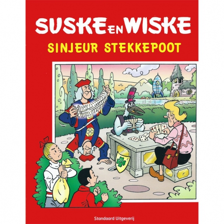 Suske en Wiske - Sinjeur Stekkepoot stickeralbum (leeg)