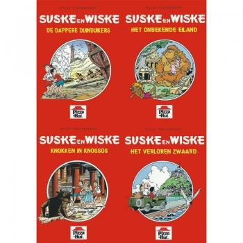 Suske en Wiske - Pizza Hut set 4 boekjes (A5)