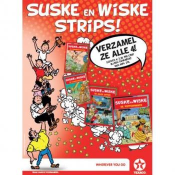 Suske en Wiske - Texaco set 4 stuks