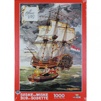 Suske en Wiske puzzel Angst op de Amsterdam 1000 stukjes